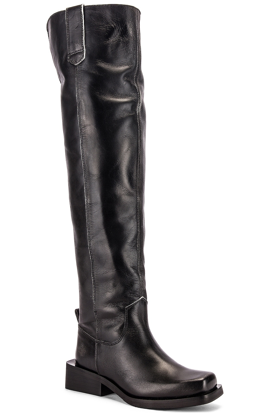 Image 2 of Ganni MC Knee High Boots in Black