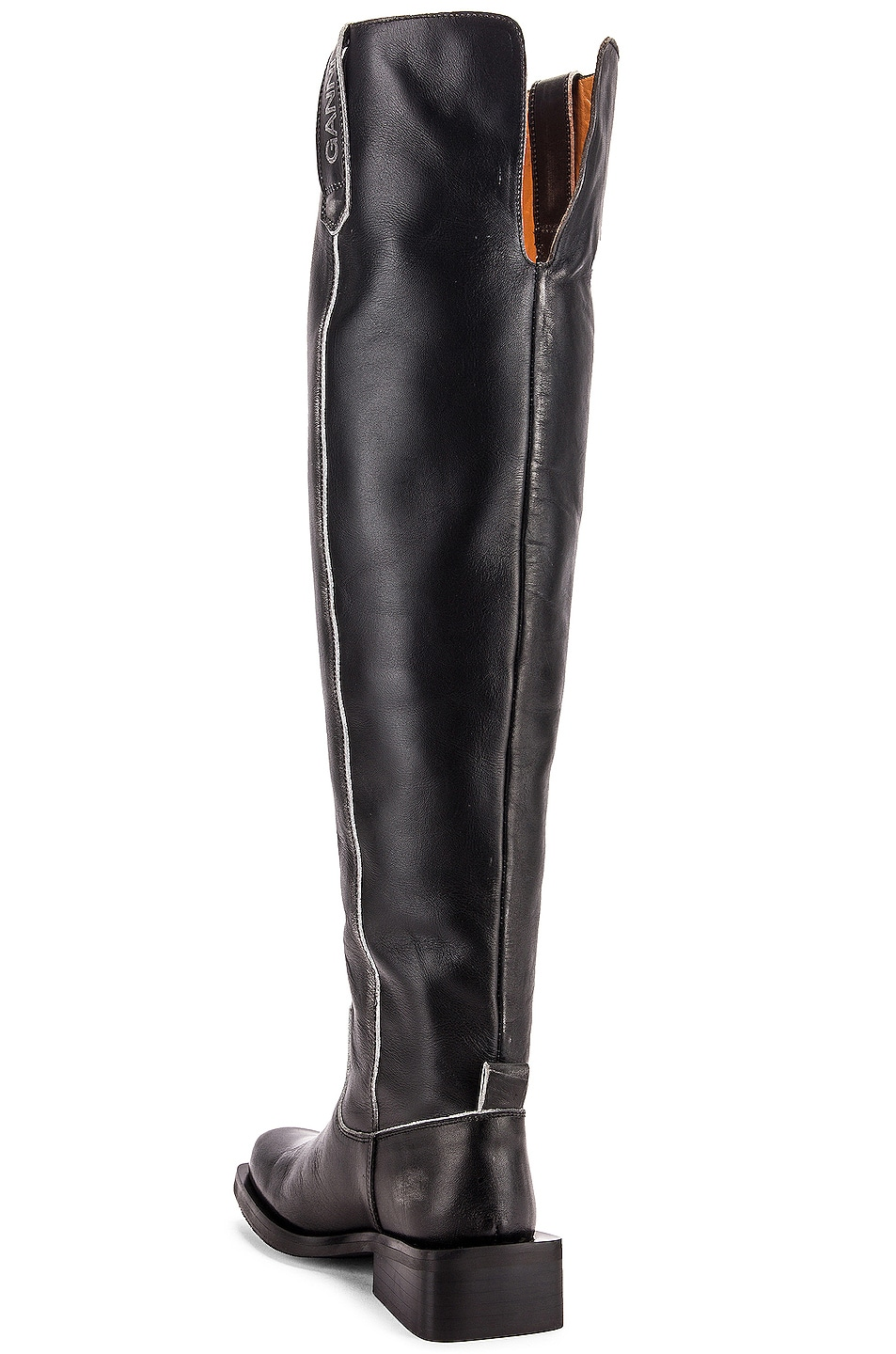 Image 3 of Ganni MC Knee High Boots in Black