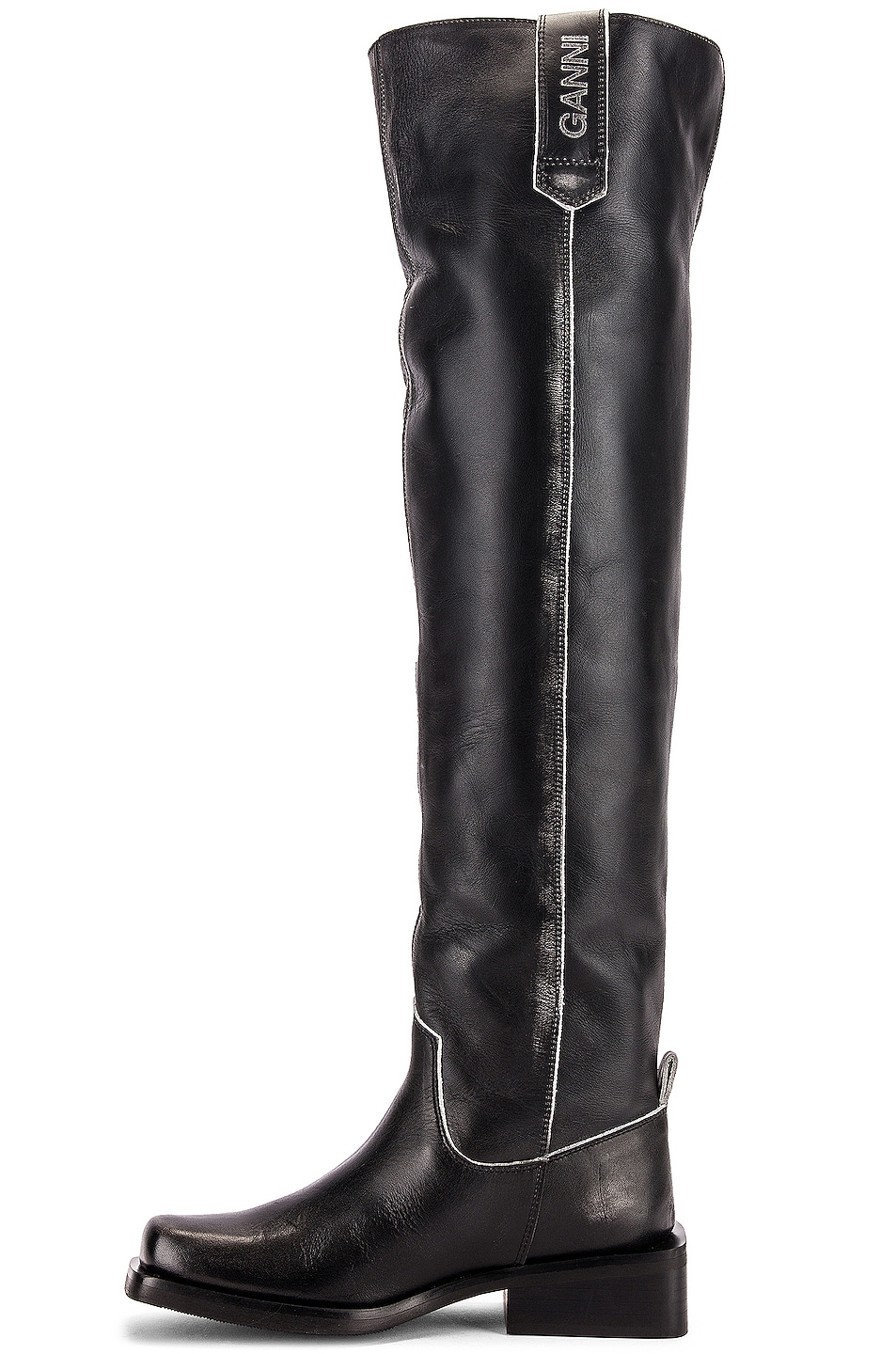 Image 5 of Ganni MC Knee High Boots in Black