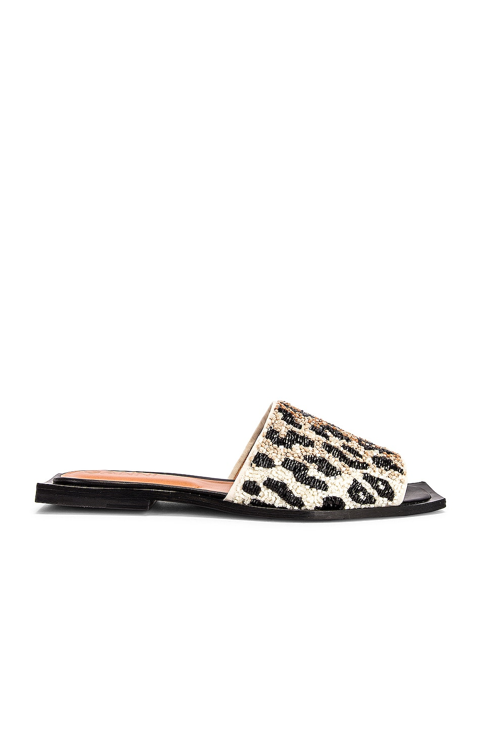 Image 1 of Ganni Slipper Sandal in Leopard