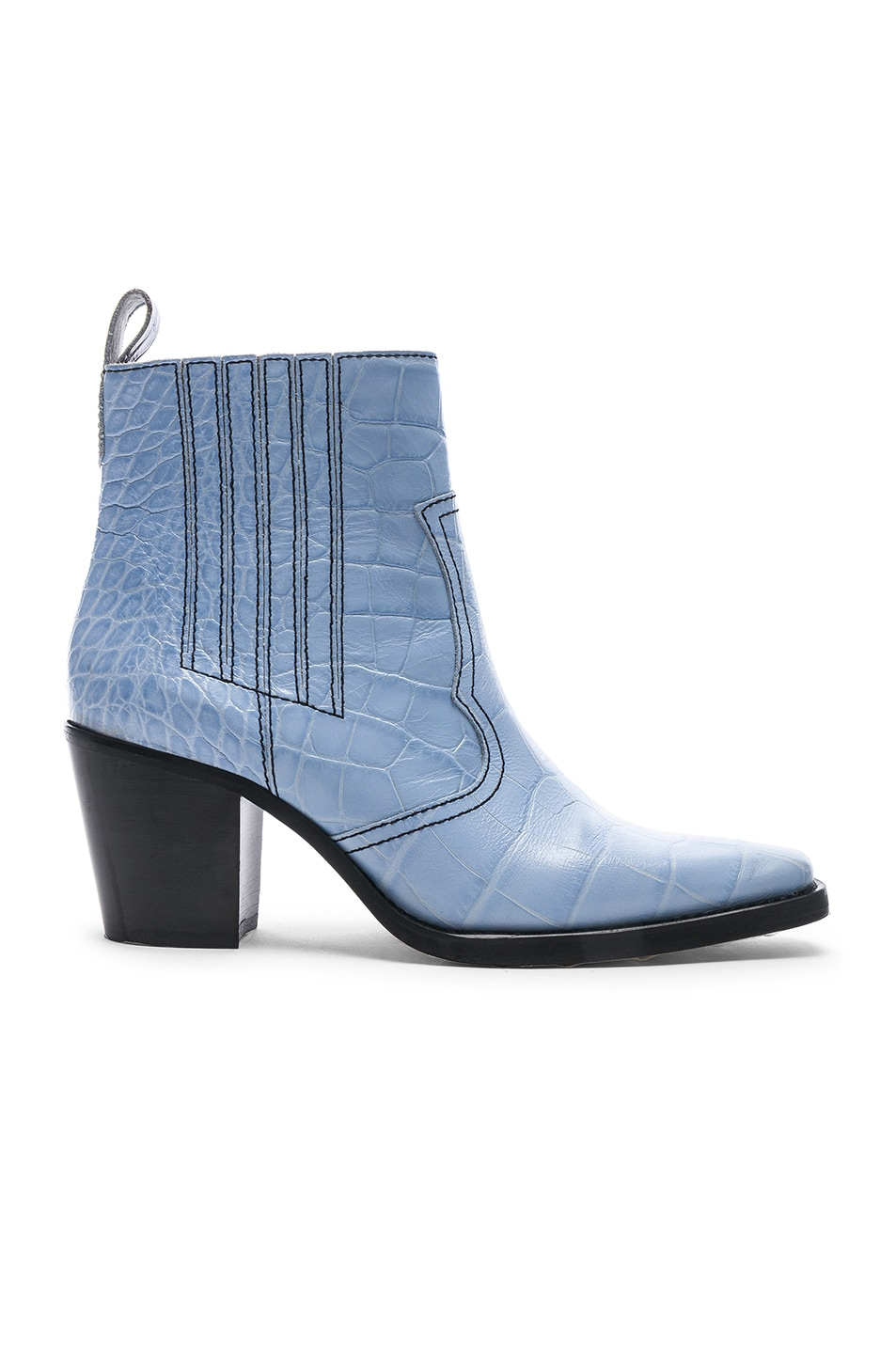 Image 1 of Ganni Western Boot in Heather