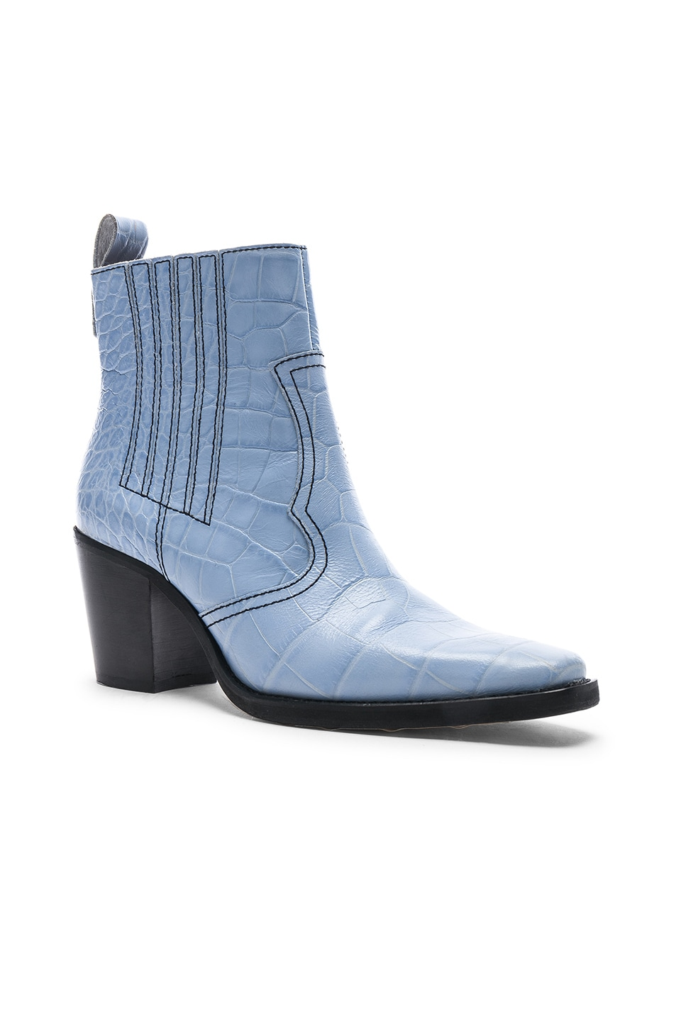 Image 2 of Ganni Western Boot in Heather