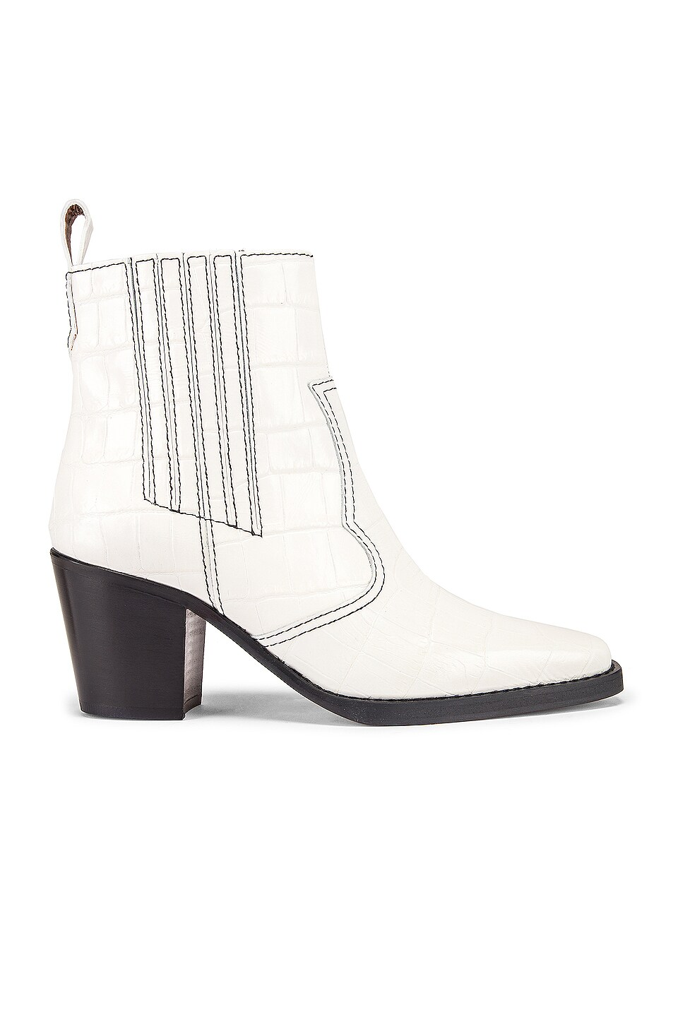 Image 1 of Ganni Western Boot in Bright White