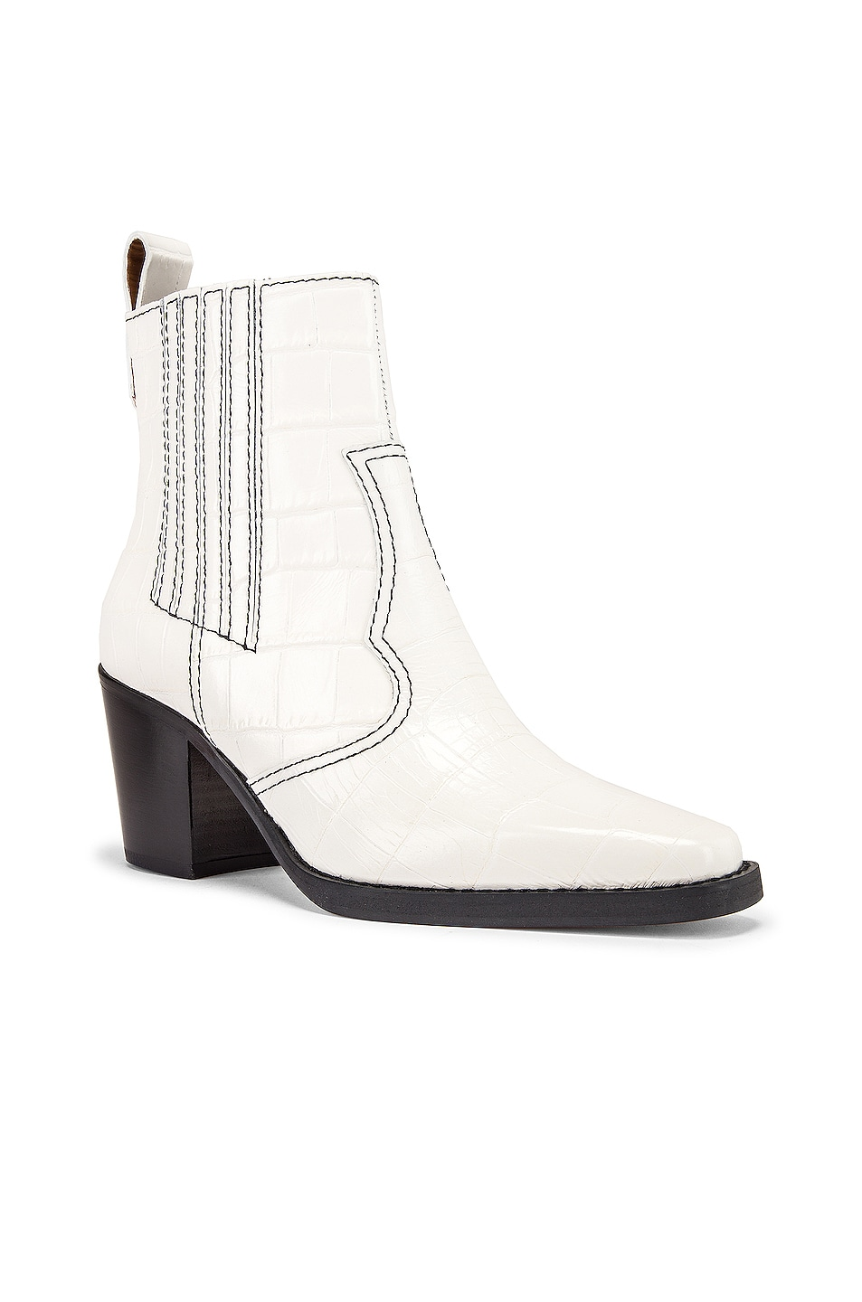 Image 2 of Ganni Western Boot in Bright White
