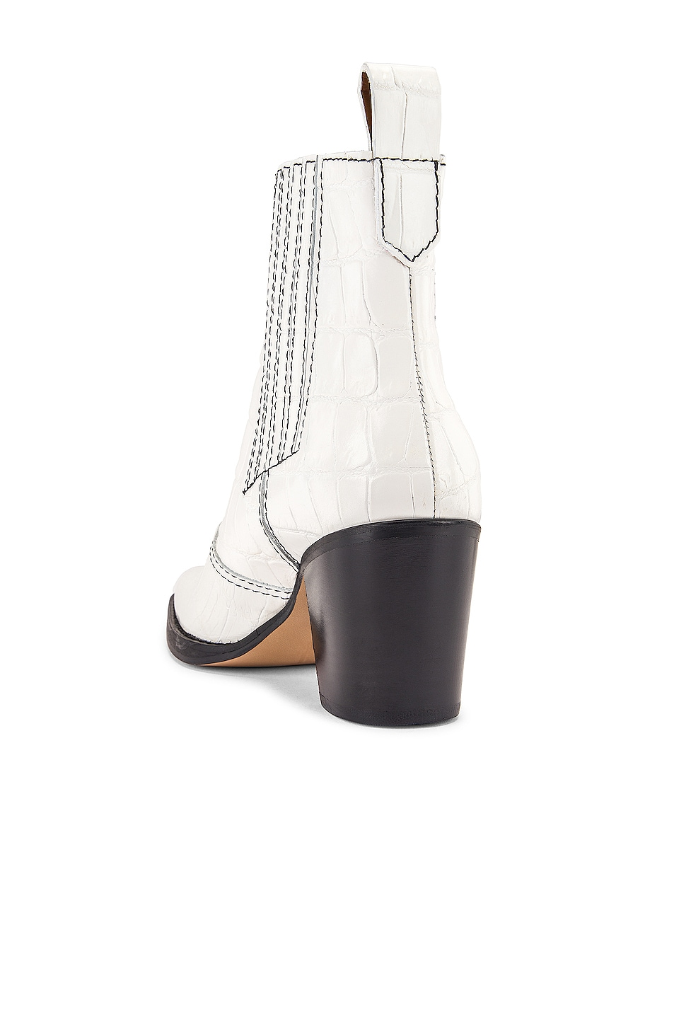 Image 3 of Ganni Western Boot in Bright White
