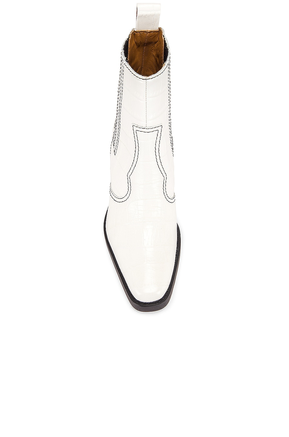 Image 4 of Ganni Western Boot in Bright White