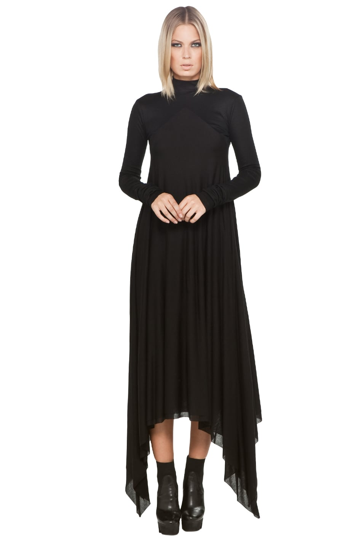 38f9eac505 Image 1 of Gareth Pugh Jersey Drape Dress in Black