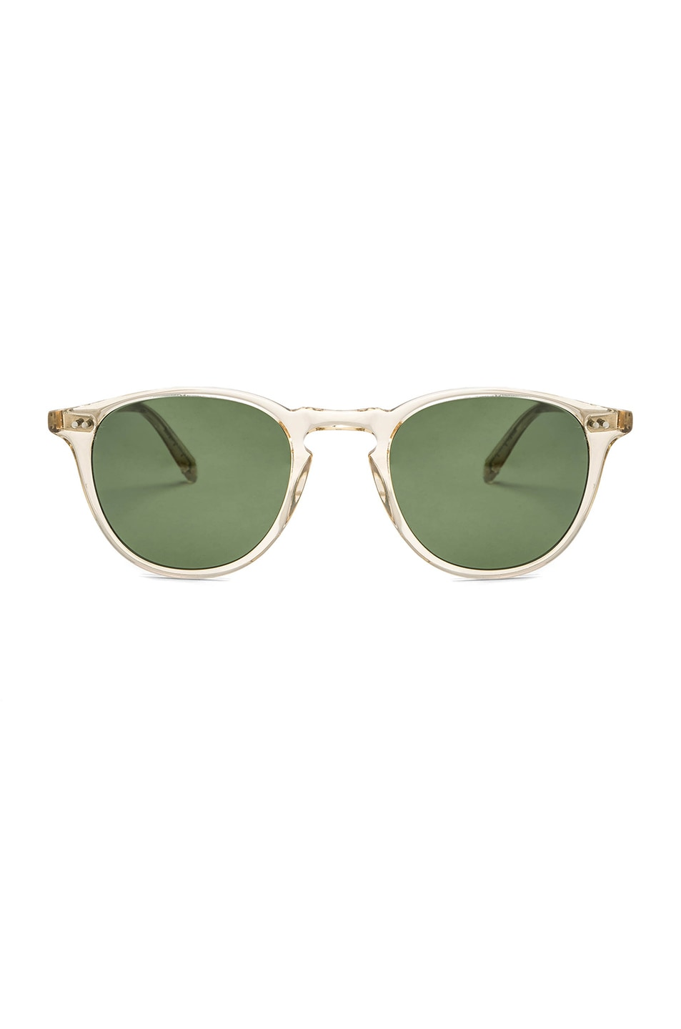 Image 1 of Garrett Leight Hampton 46 in Champagne & Pure Green