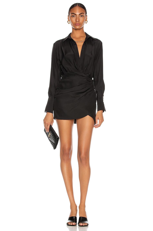 Image 1 of GAUGE81 Naha Short Dress in Black