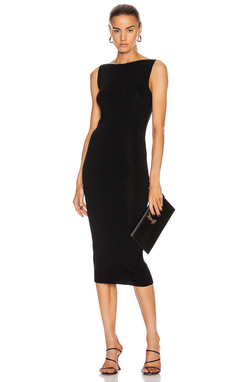 Image 2 of GAUGE81 Lausanne Open Back Little Black Dress in Black