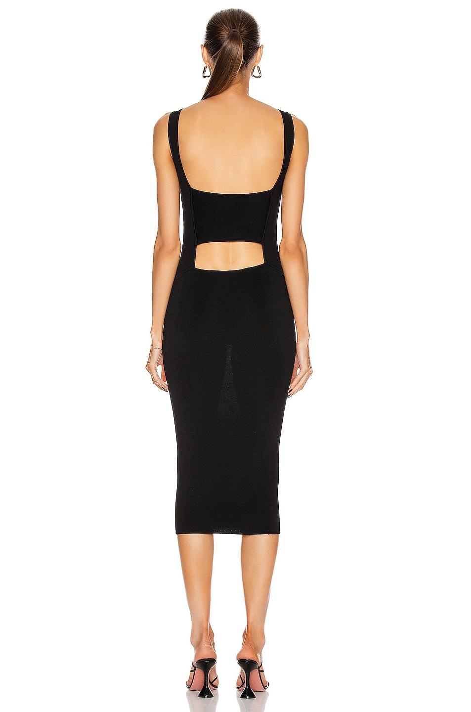 Image 4 of GAUGE81 Lausanne Open Back Little Black Dress in Black