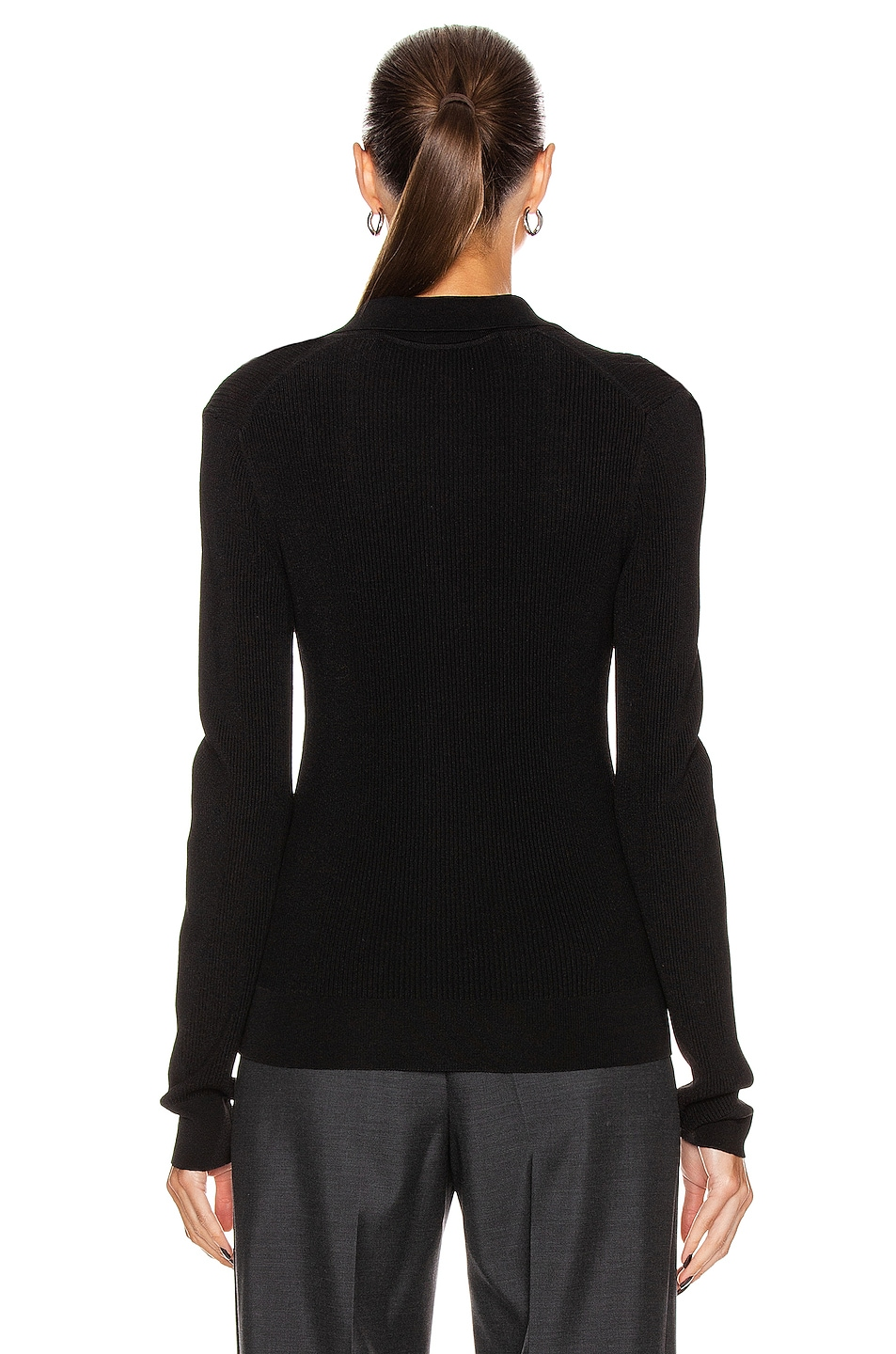 Image 3 of GAUGE81 Basel Knit Polo Top in Black