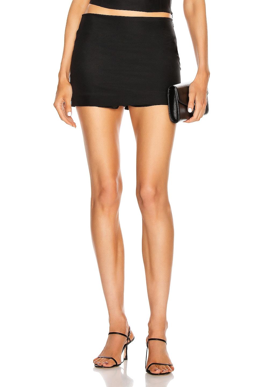 Image 1 of GAUGE81 Nara Mini Skirt in Black