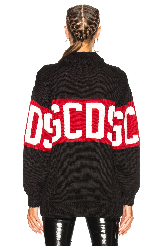 Image 3 of GCDS Knitwear Sweatshirt in Black
