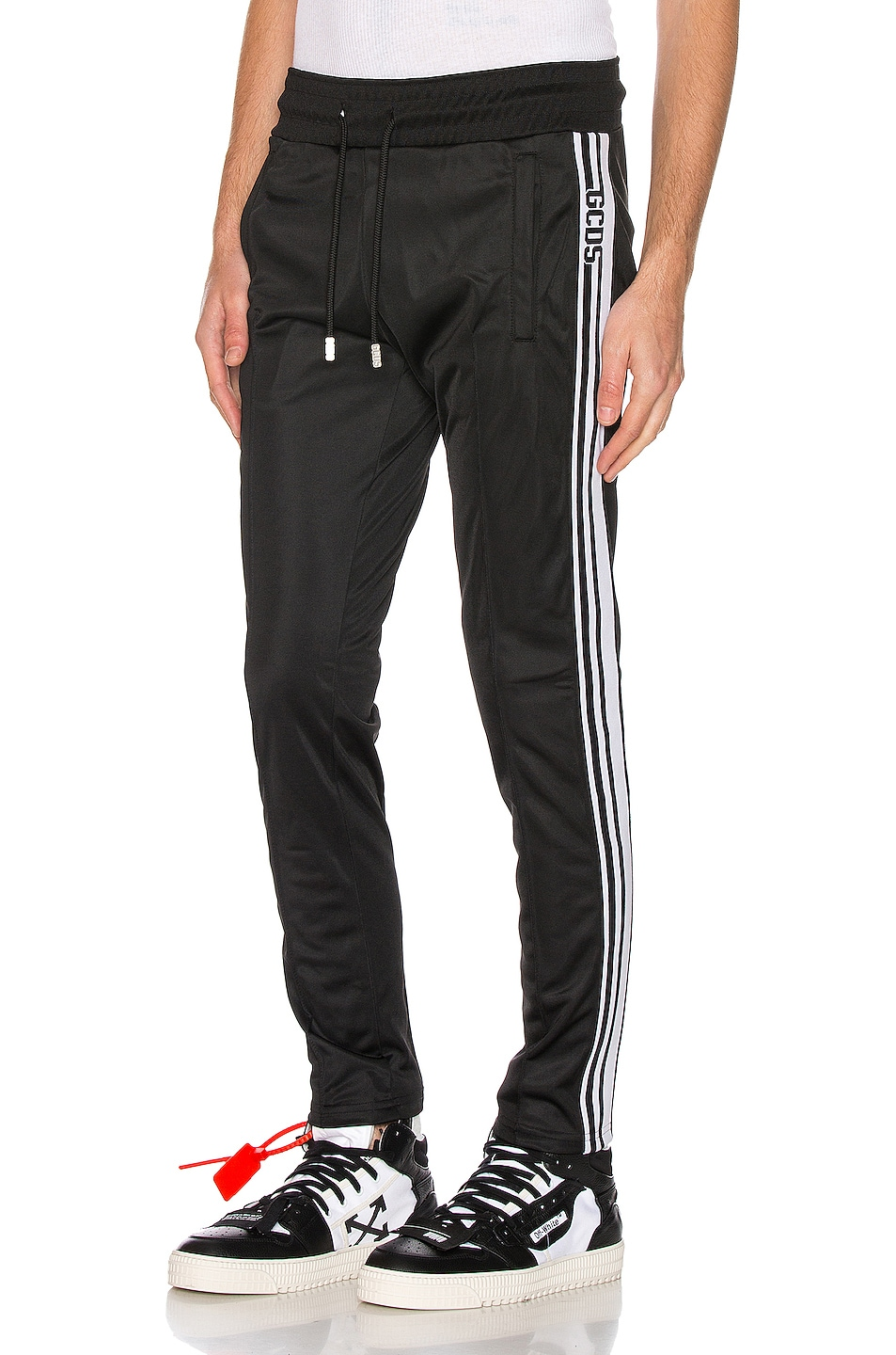 Image 1 of GCDS Straight Acetate Sweatpants in Black