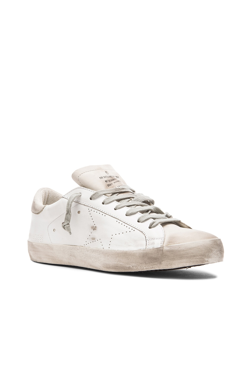 Image 1 of Golden Goose Superstar Sneakers in White