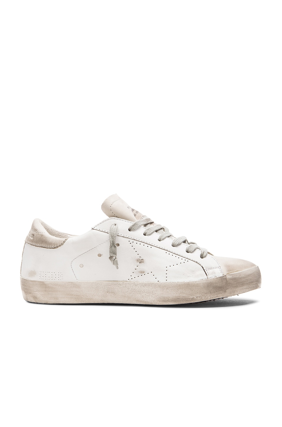 Image 2 of Golden Goose Superstar Sneakers in White