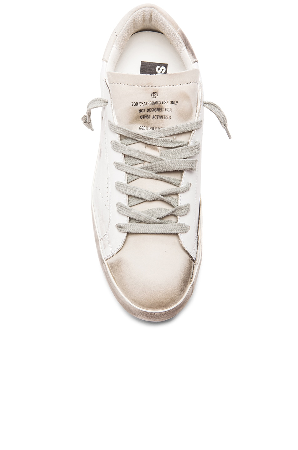 Image 4 of Golden Goose Superstar Sneakers in White