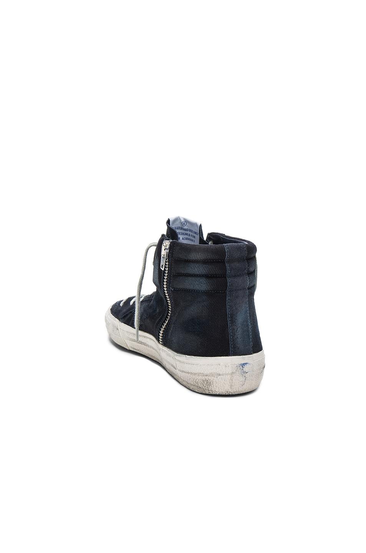 Image 3 of Golden Goose Suede Slide Sneakers in Navy Denim