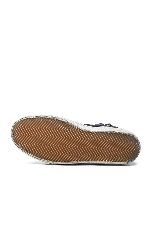 Image 6 of Golden Goose Suede Slide Sneakers in Navy Denim