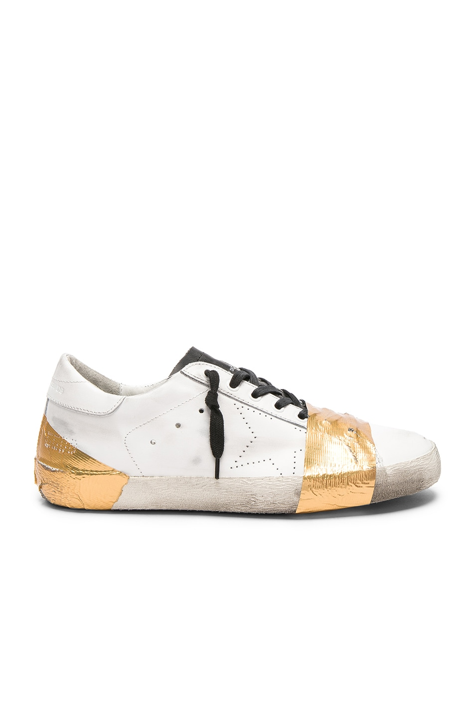 Golden Goose Superstar Sneakers In White In White Leather