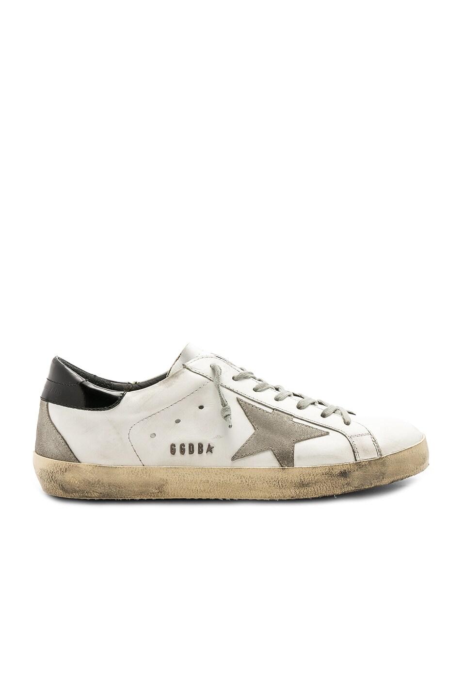 Image 2 of Golden Goose Superstar Sneakers in White & Black & Cream