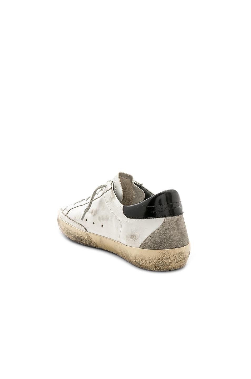 Image 3 of Golden Goose Superstar Sneakers in White & Black & Cream
