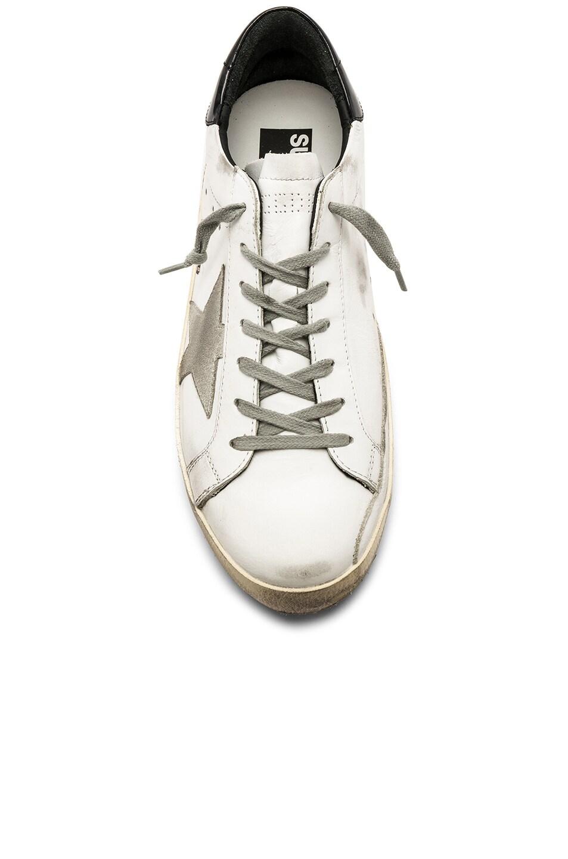 Image 4 of Golden Goose Superstar Sneakers in White & Black & Cream