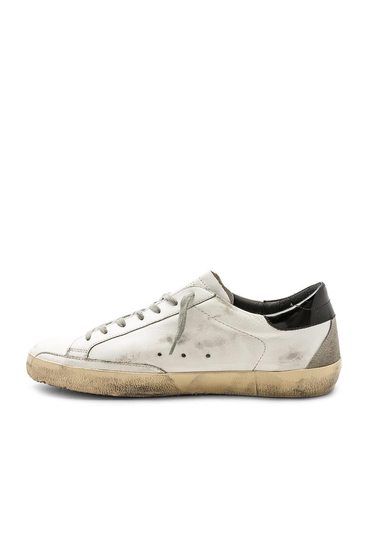 Image 5 of Golden Goose Superstar Sneakers in White & Black & Cream