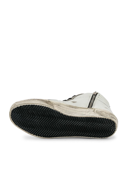 Image 6 of Golden Goose Slide Hi-Top Sneaker in White & Black