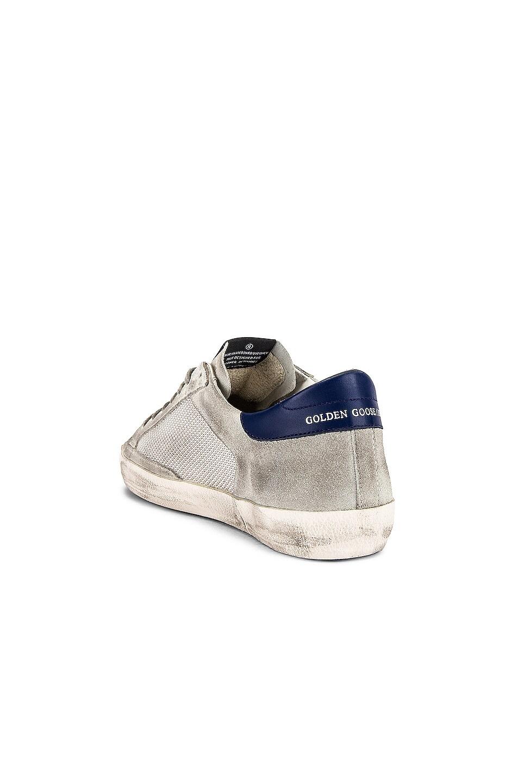 Image 3 of Golden Goose Superstar Sneaker in Ice Suede & Grey Cord