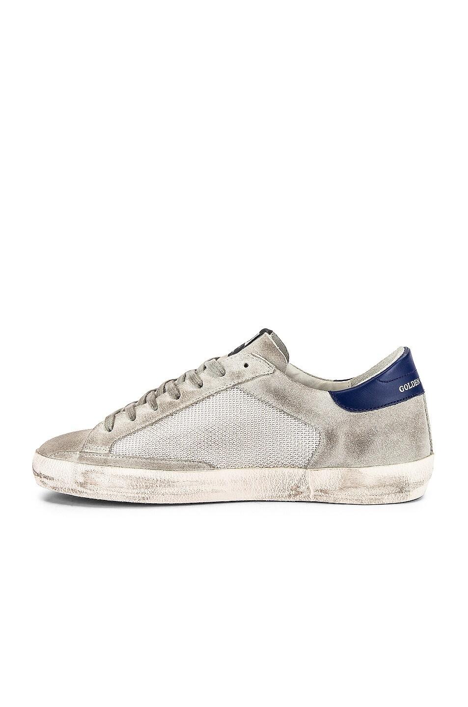 Image 5 of Golden Goose Superstar Sneaker in Ice Suede & Grey Cord
