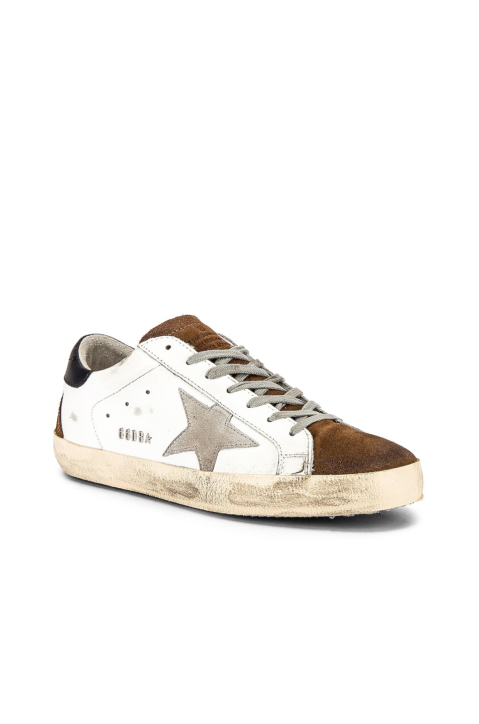 Image 1 of Golden Goose Superstar Sneaker in White Mud Suede & Ice Star