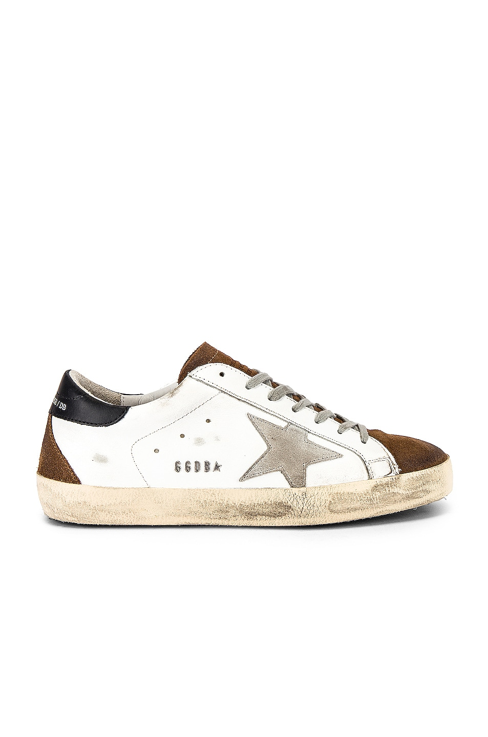 Image 2 of Golden Goose Superstar Sneaker in White Mud Suede & Ice Star