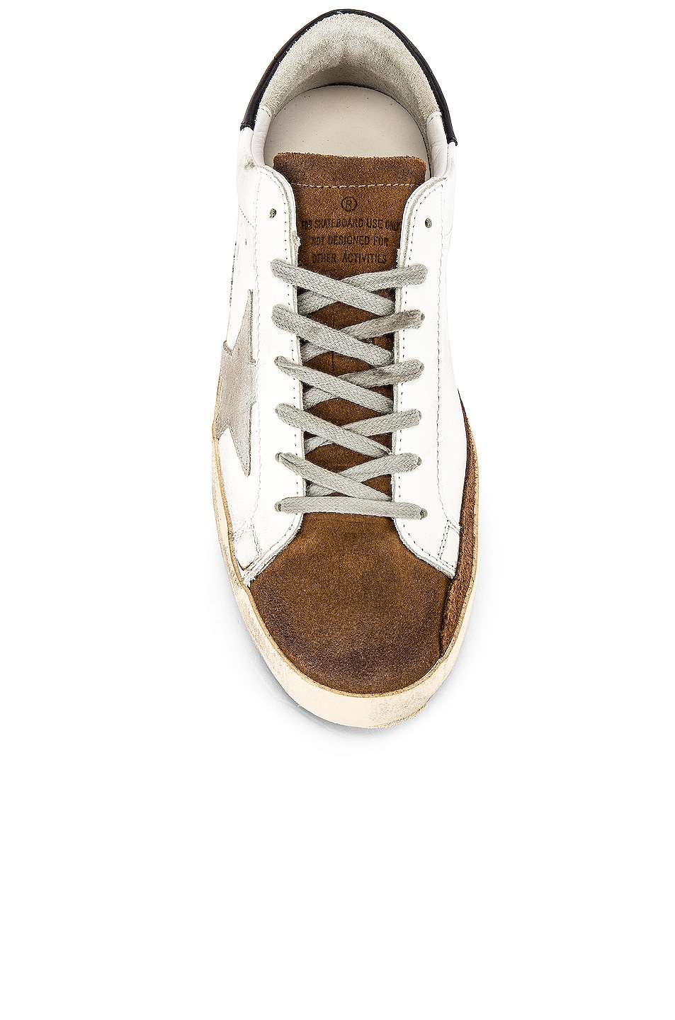 Image 4 of Golden Goose Superstar Sneaker in White Mud Suede & Ice Star