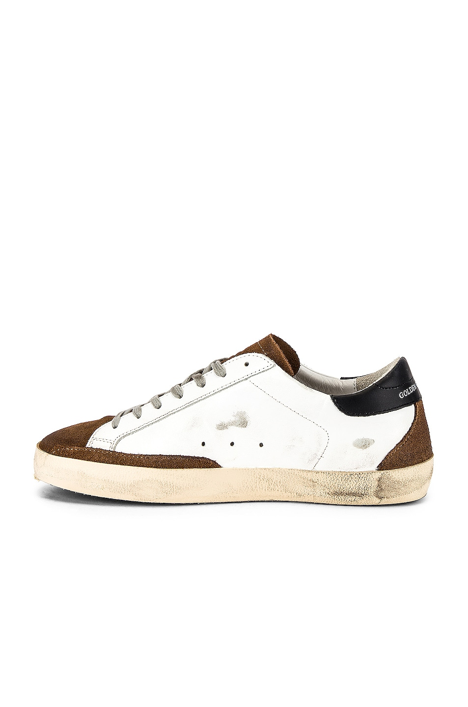 Image 5 of Golden Goose Superstar Sneaker in White Mud Suede & Ice Star