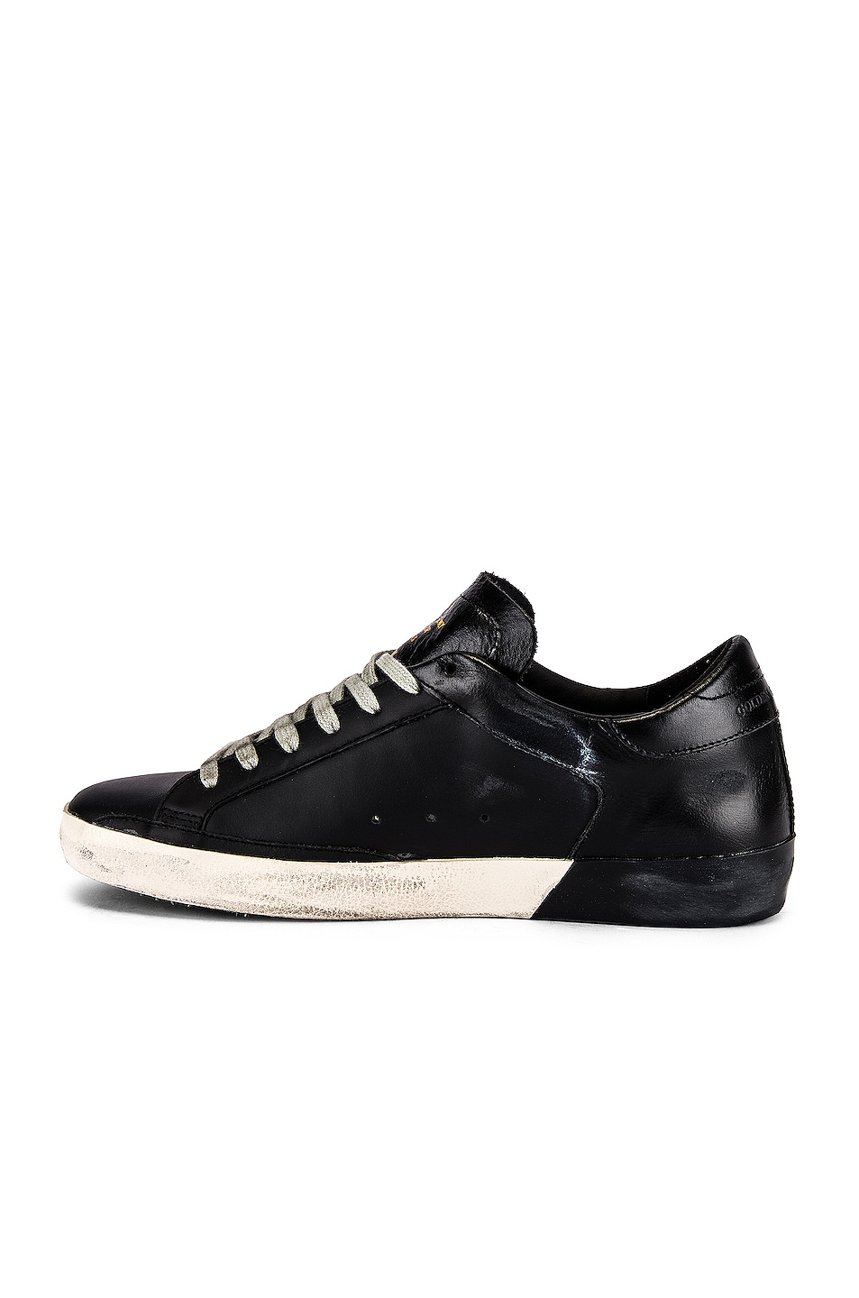 Image 5 of Golden Goose Superstar Sneaker in Black Leather & Black Foxing