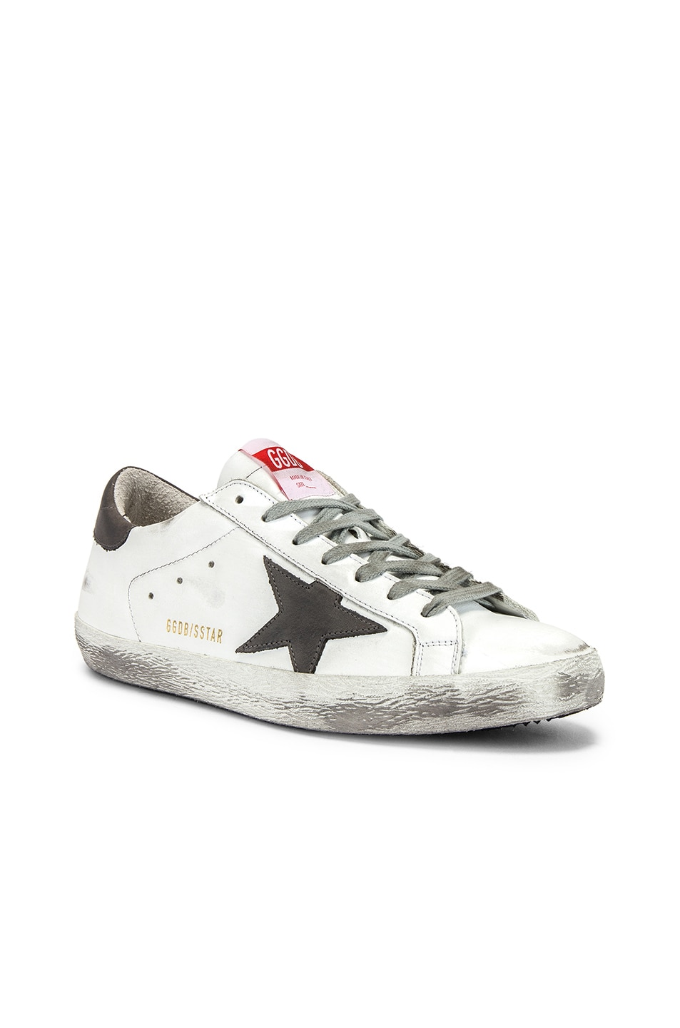 Image 1 of Golden Goose Superstar Sneaker in White & Grey Nubuck Star
