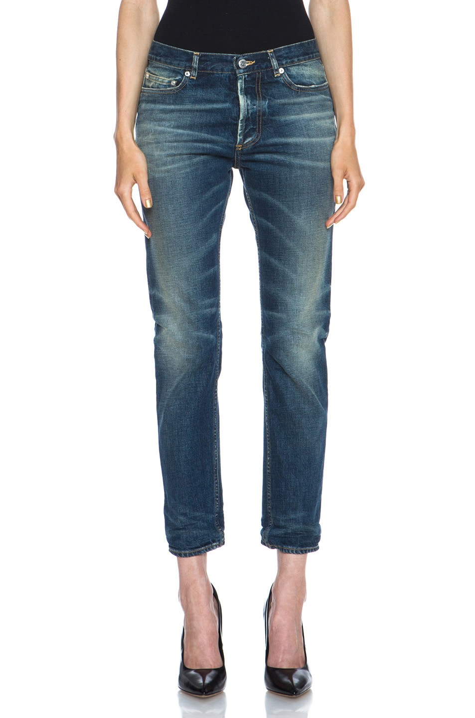 Image 1 of Golden Goose Jeans Medium Wash in Blue