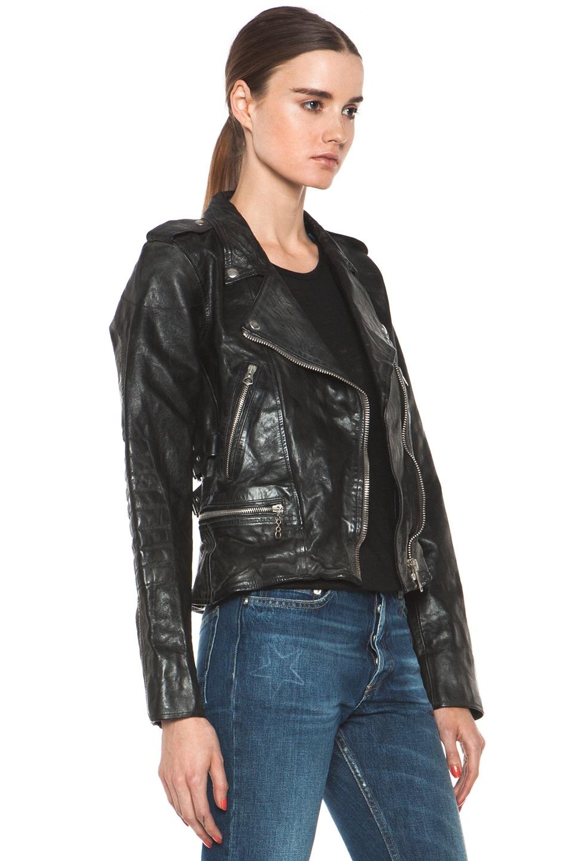 Image 4 of Golden Goose Leather Jacket in Black