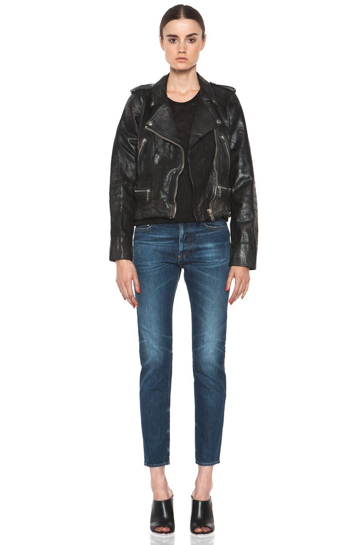 Image 6 of Golden Goose Leather Jacket in Black