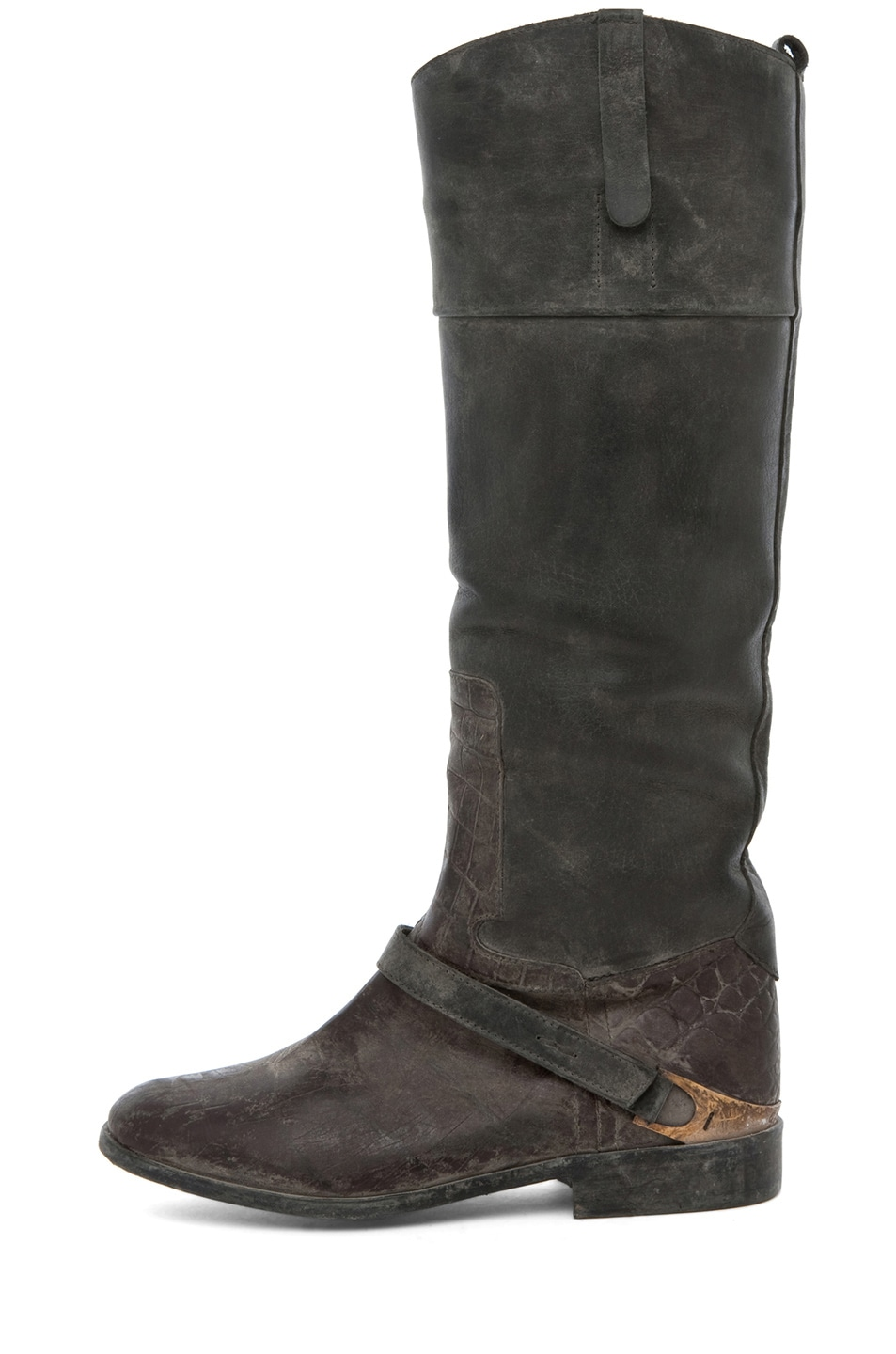 Image 1 of Golden Goose Charlye Boot in Croc Print