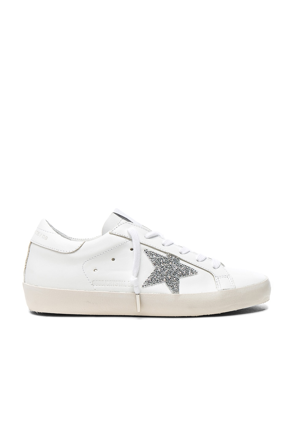 Image 1 of Golden Goose Swarovski Crystal Embellished Superstar Low Sneakers in White