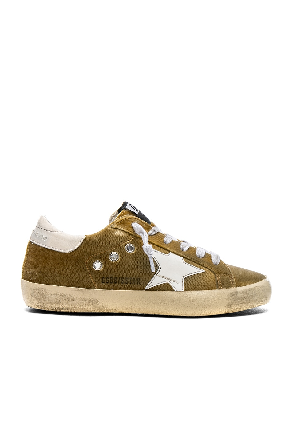Image 1 of Golden Goose Velvet Superstar Sneakers in Gold Velvet