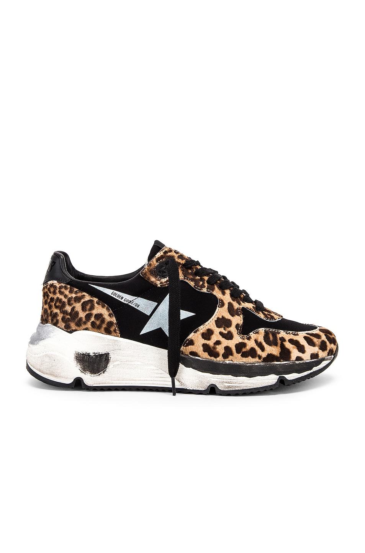 Image 1 of Golden Goose Running Sole Sneaker in Leopard & White Star