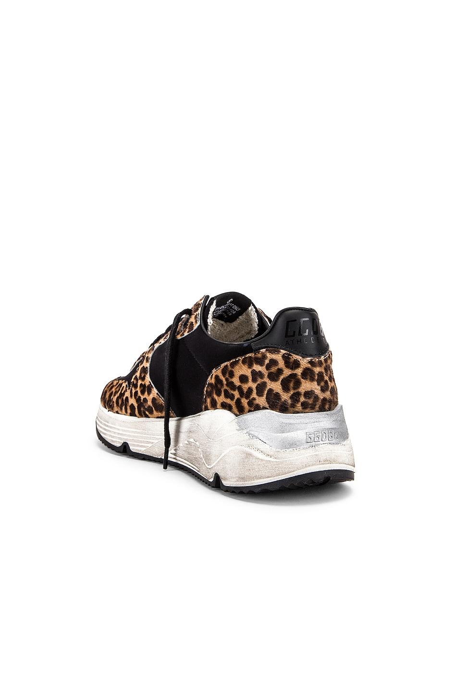 Image 3 of Golden Goose Running Sole Sneaker in Leopard & White Star