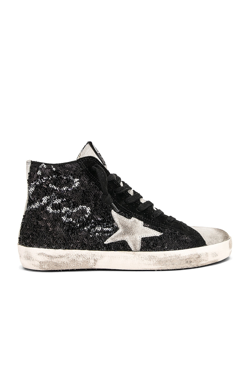 Image 1 of Golden Goose Francy Sneakers in Black Paillettes