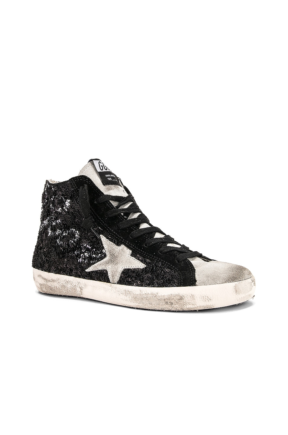 Image 2 of Golden Goose Francy Sneakers in Black Paillettes