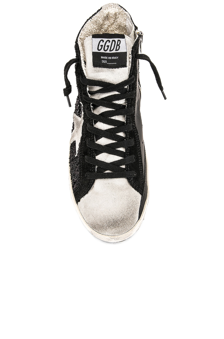 Image 4 of Golden Goose Francy Sneakers in Black Paillettes