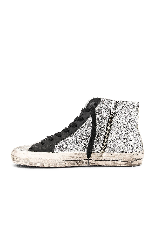 Image 5 of Golden Goose Slide Sneakers in Silver Glitter & Black Star